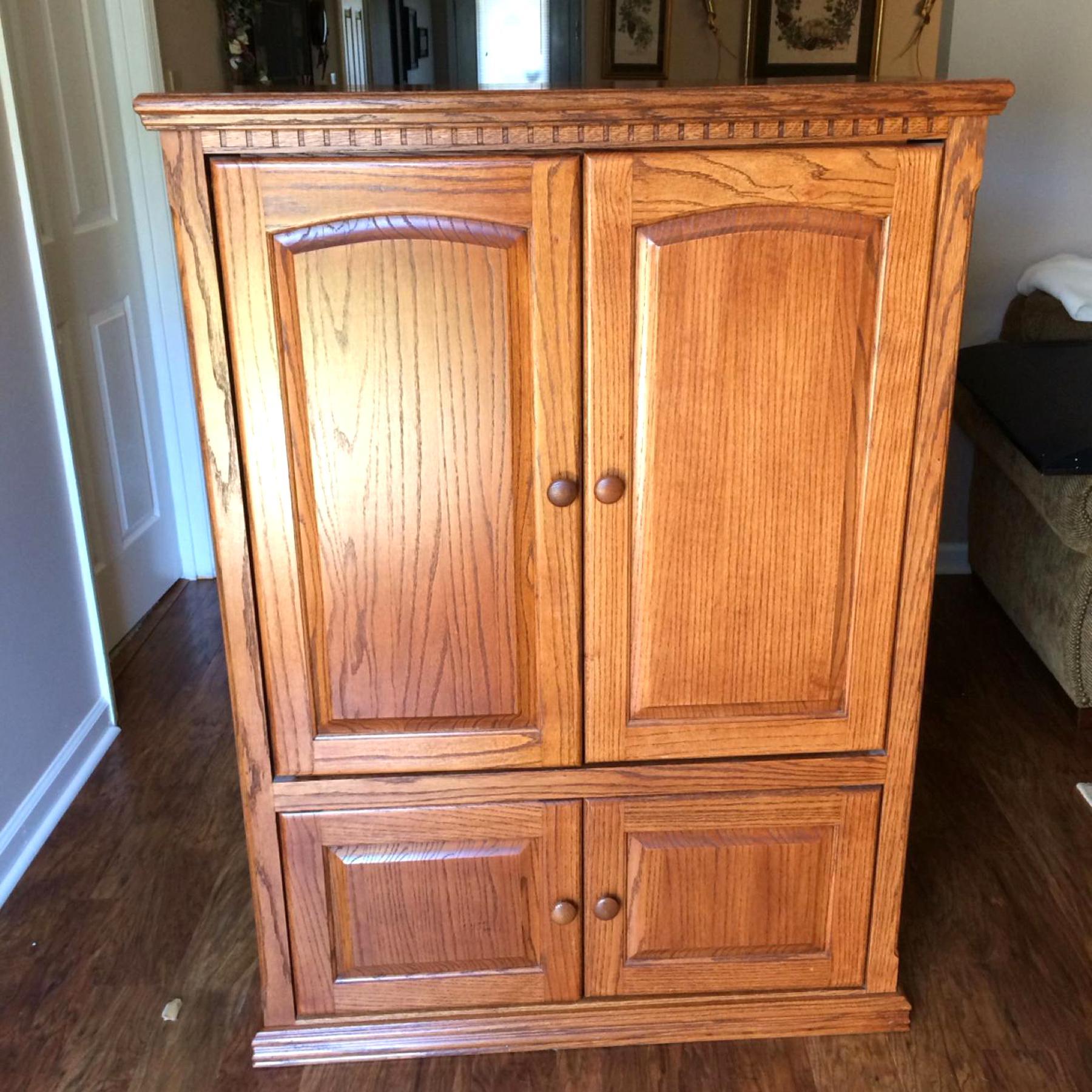 oak tv armoire for sale