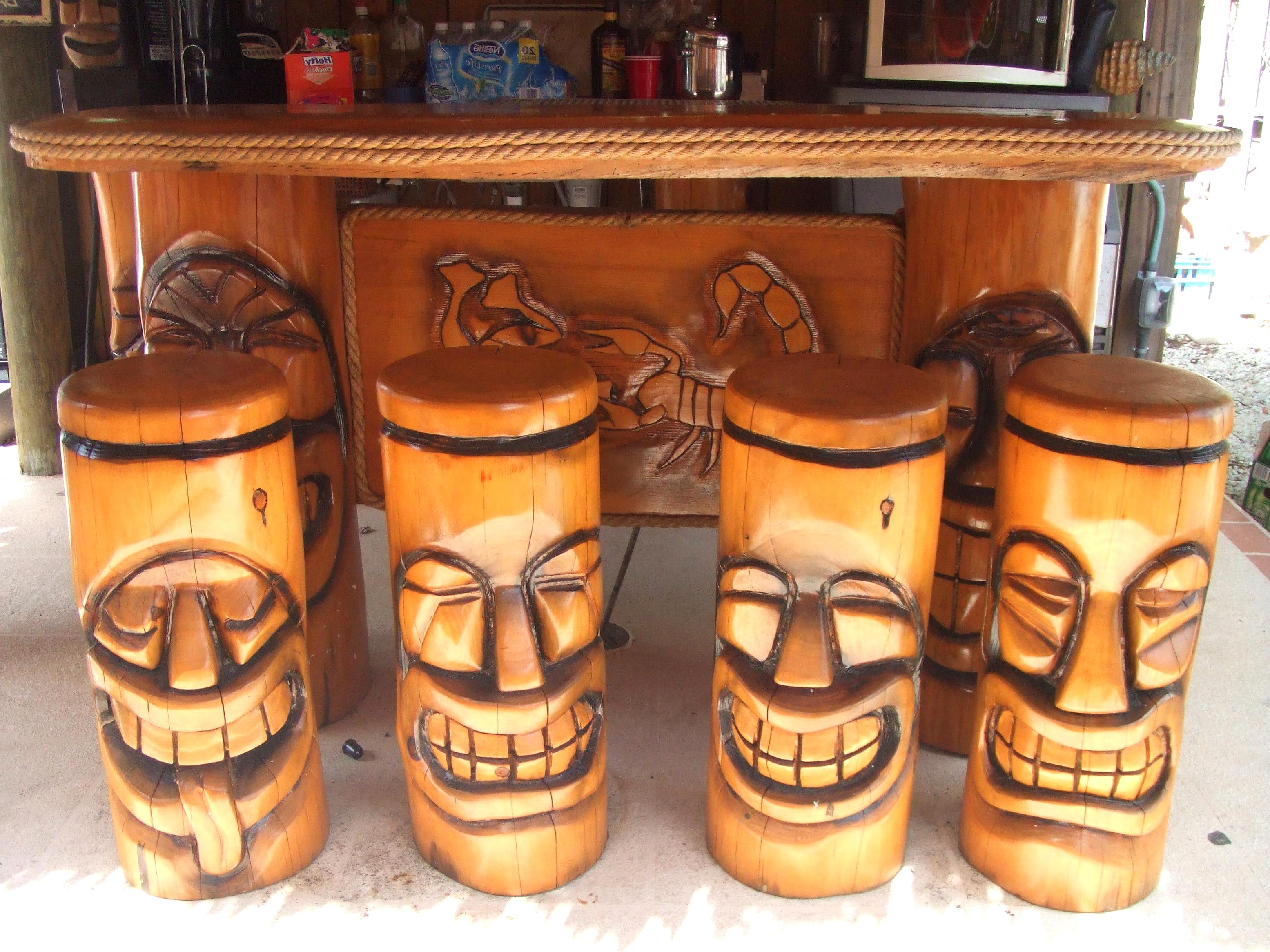 Superb Tiki Bar Stools For Sale Compare 68 Second Hand Ads Customarchery Wood Chair Design Ideas Customarcherynet