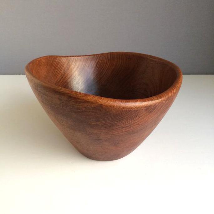 kalmar teak wood salad bowl for sale