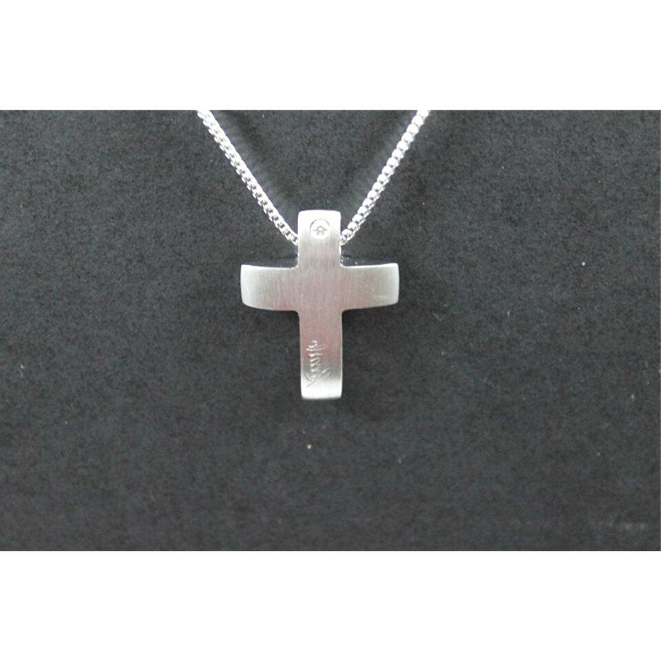 croce oro bianco uomo usato