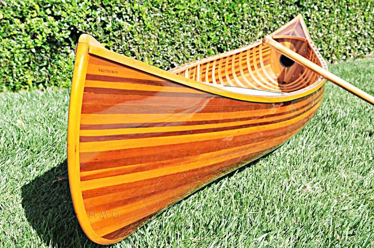 wooden canoe for sale