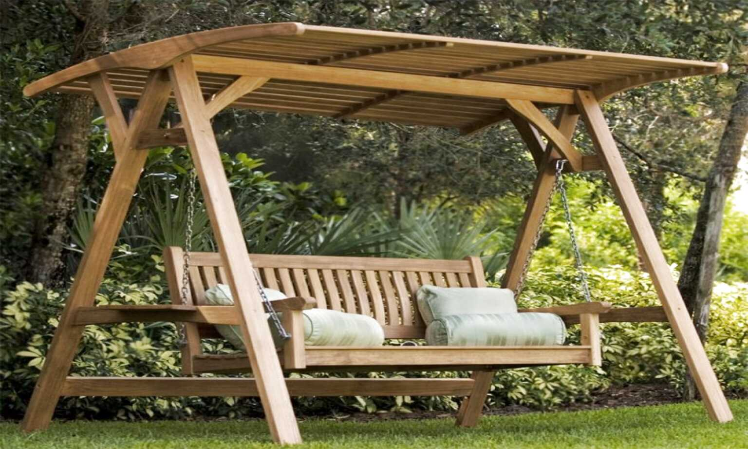 outdoor wooden swing for sale