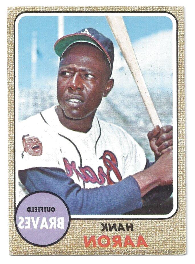 hank aaron baseball card for sale
