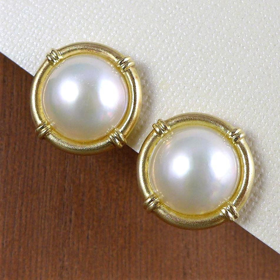 mabe pearl earrings for sale