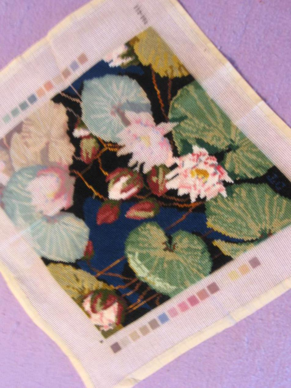 unfinished needlepoint for sale