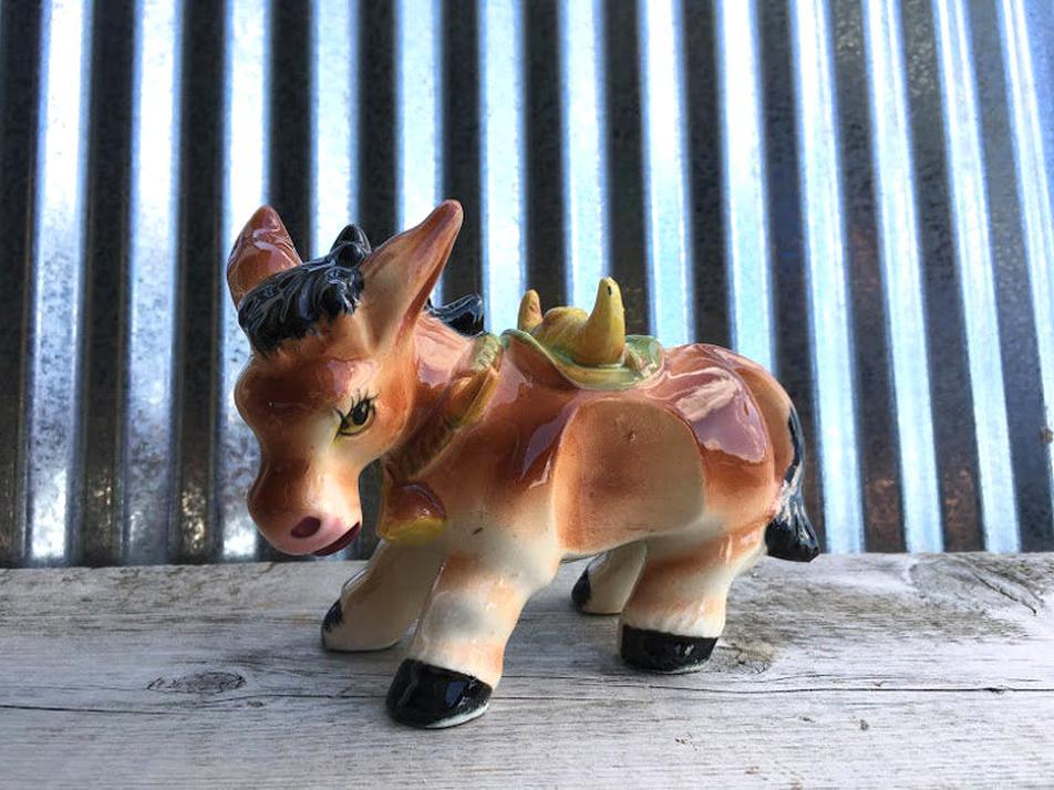 vintage ceramic donkey for sale