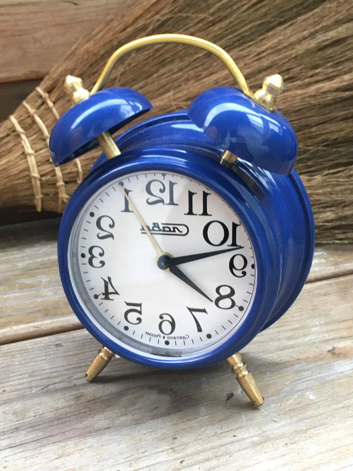 Vintage Blue Alarm Clock For Sale Only 4 Left At 70