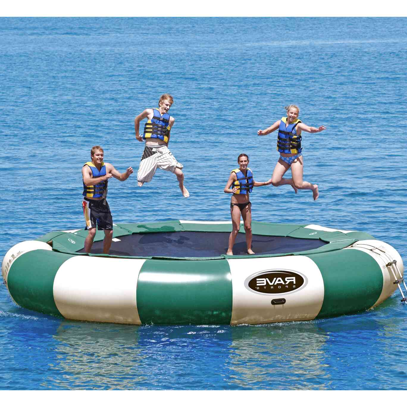 rave water trampoline for sale