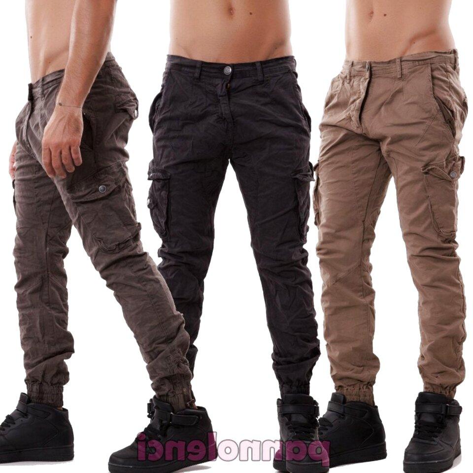 Pantaloni Larghi da Uomo Pantaloni Stile Hip Hop Pantaloni