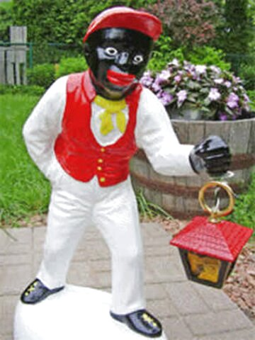 black lawn jockey for sale