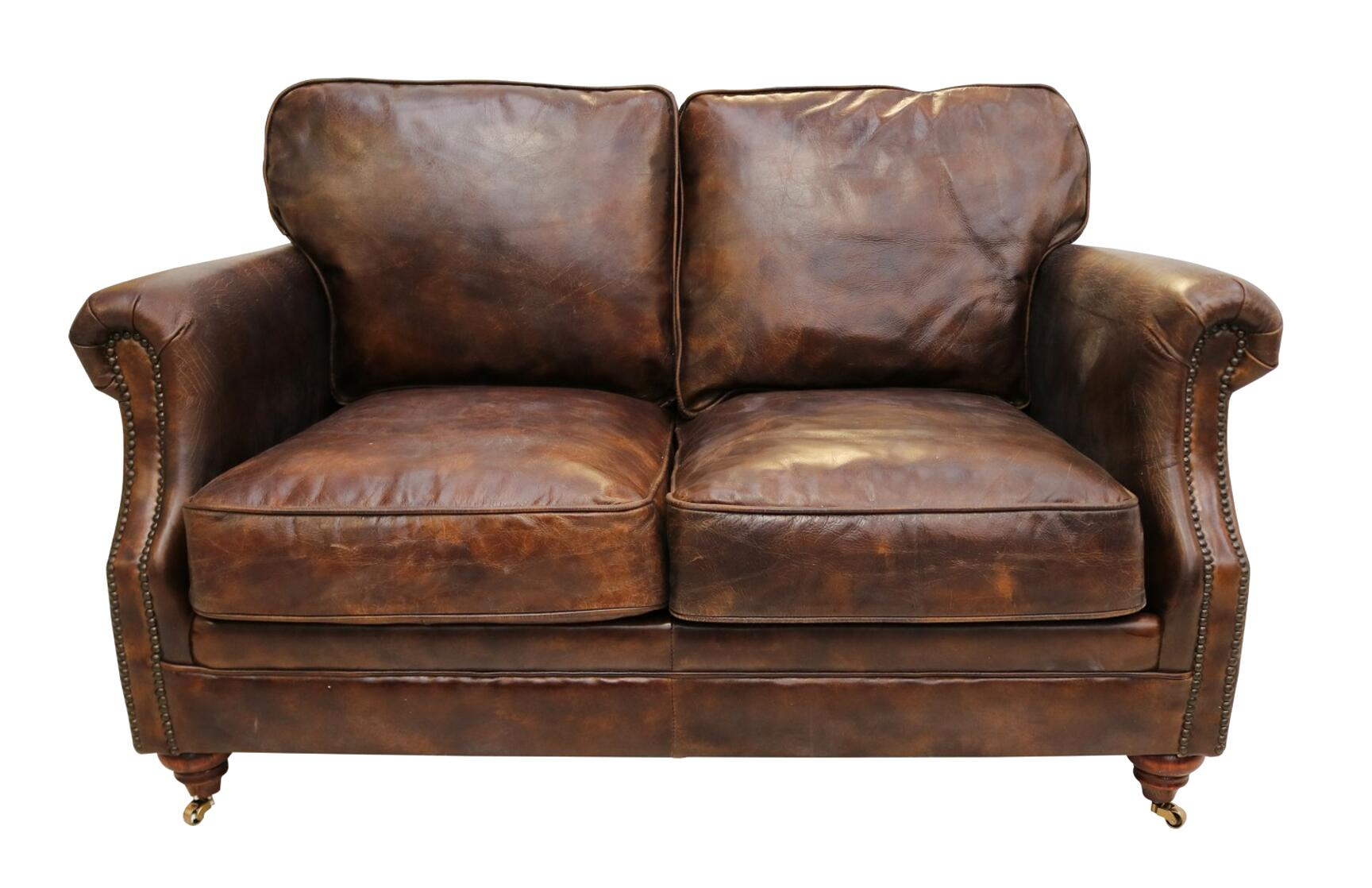 distressed leather sofa for sale