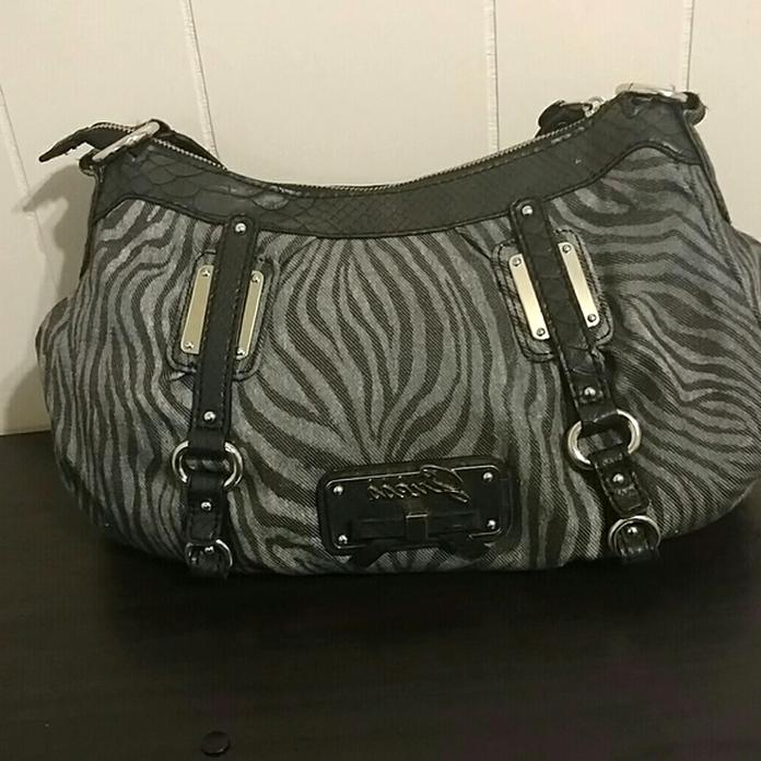 guess zebra purse for sale