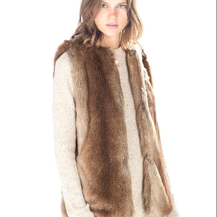 zara fur vest for sale