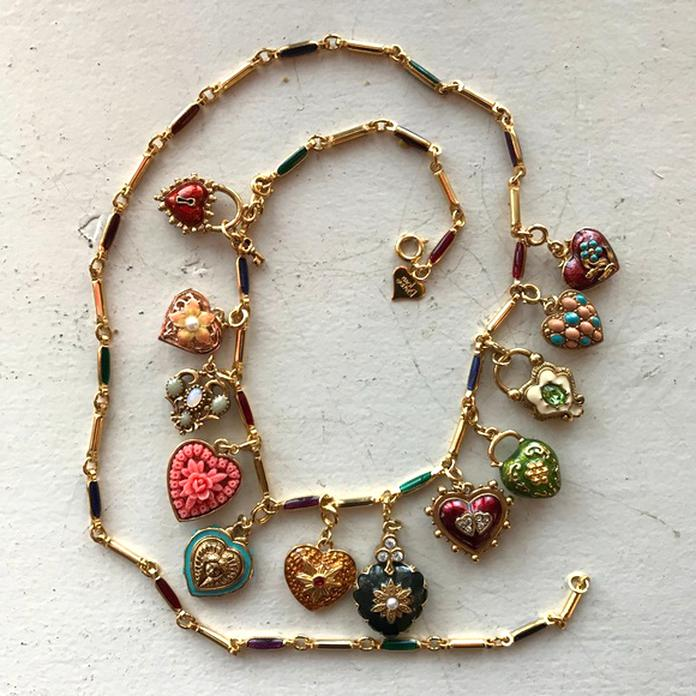 flower charm necklace joan rivers for sale