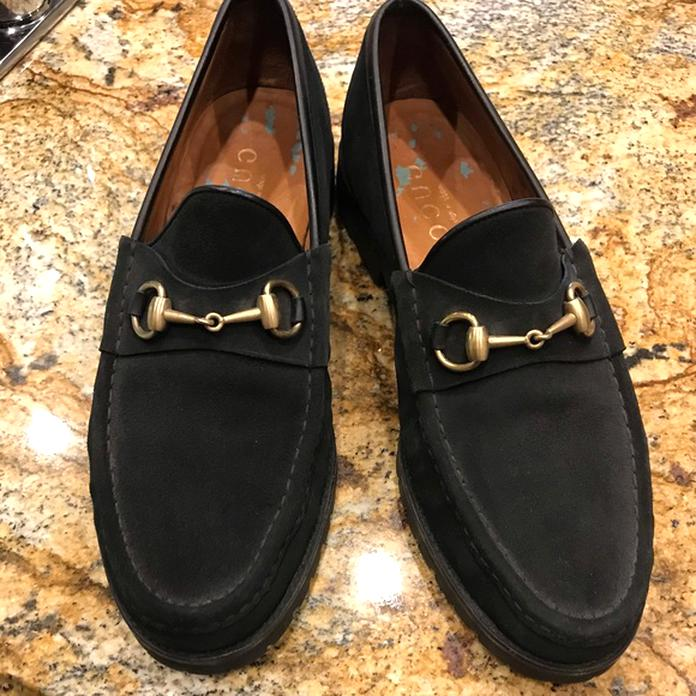 Gucci Suede Mens Loafers for sale