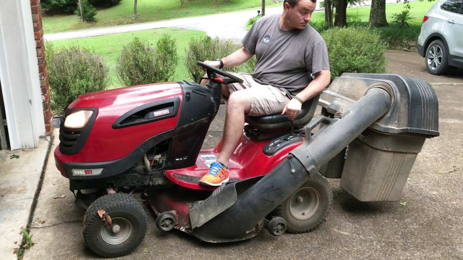 craftsman riding mower bagger for sale