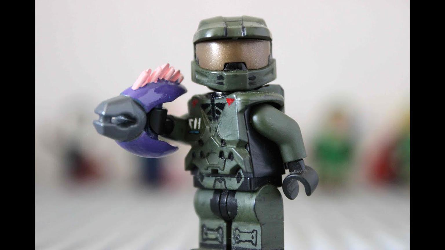 Lego Halo Custom Spartan Master Chief Space Marine Minifigure Soldier