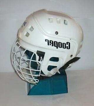5 Hockey helmet pendants antique silver tone SP78