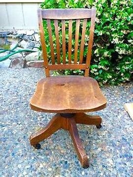 oak swivel chair for sale