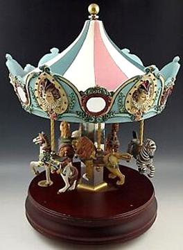 THE SAN FRANCISCO MUSIC BOX COMPANY Gemstone Carousel Horse 089902813185