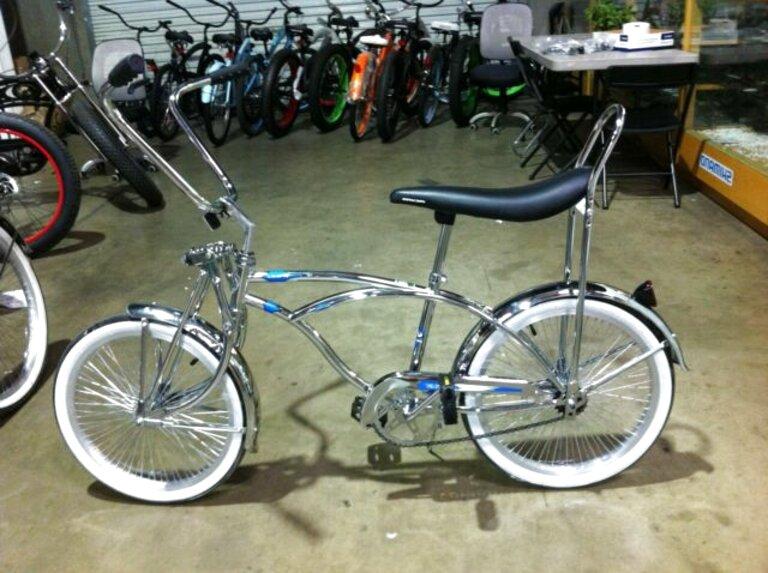 "Lowrider Bicycle 10 1//2/"" Wing Kickstand Center Chopper Bike Gold"
