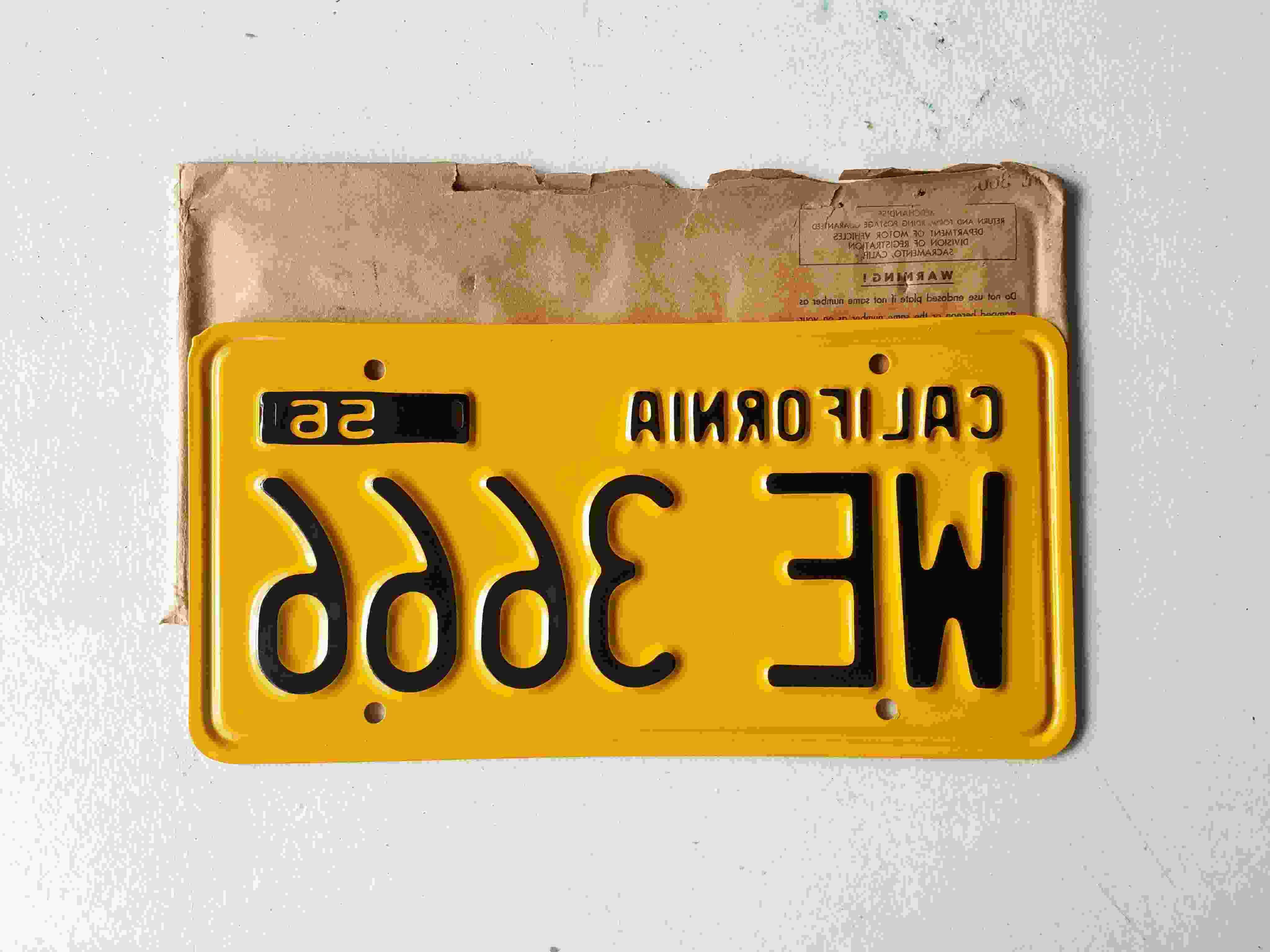 1956 california license plates for sale