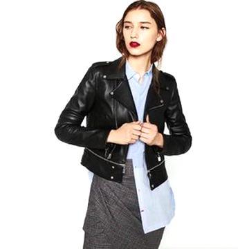 zara leather jacket women for sale