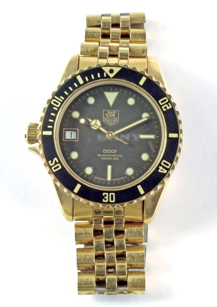 tag heuer gold wristwatch mens for sale